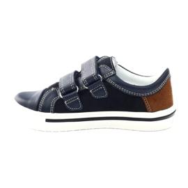 Boys' shoes Bartek 18607 navy blue multicolored brown white 2