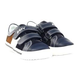 Boys' shoes Bartek 18607 navy blue multicolored brown white 4