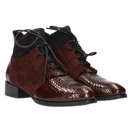 Women's Boots Leather Filippo DBT3034 / 21 BR brown 4