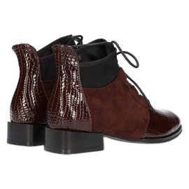 Women's Boots Leather Filippo DBT3034 / 21 BR brown 3