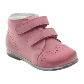 Pink Hugotti velcro leather shoes 1