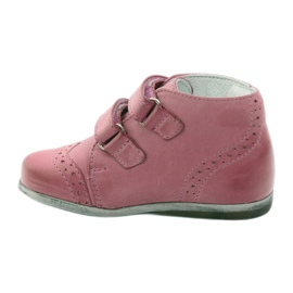 Pink Hugotti velcro leather shoes 2