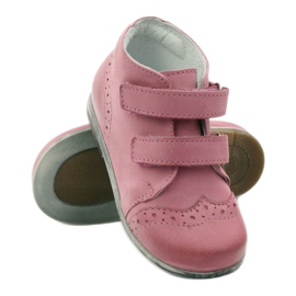 Pink Hugotti velcro leather shoes 3