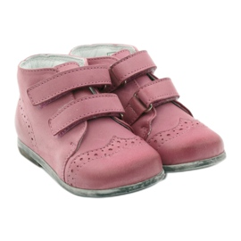 Pink Hugotti velcro leather shoes 4