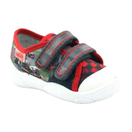Befado children's shoes sneakers slippers 907p093 red grey 1