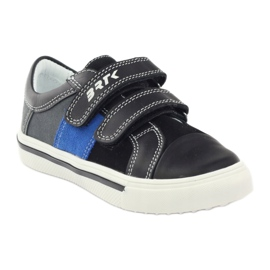 Boys' shoes Bartek 15607 black multicolored grey blue 1