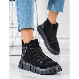 Seastar Suede Sneakers With A Chain black 4