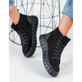 Seastar Suede Sneakers With A Chain black 1