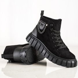 Seastar Suede Sneakers With A Chain black 2