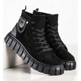 Seastar Suede Sneakers With A Chain black 3
