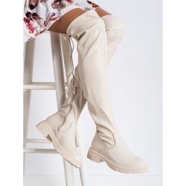 Seastar Fashionable beige boots with eco leather 2