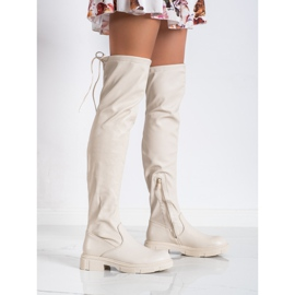 Seastar Fashionable beige boots with eco leather 1