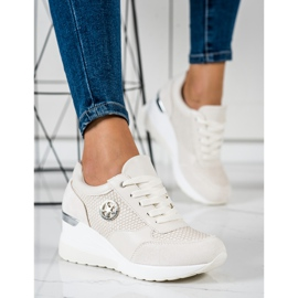 SHELOVET Light Wedge Sneakers beige 4