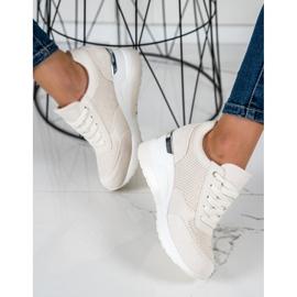 SHELOVET Light Wedge Sneakers beige 1