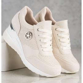 SHELOVET Light Wedge Sneakers beige 2