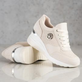 SHELOVET Light Wedge Sneakers beige 3