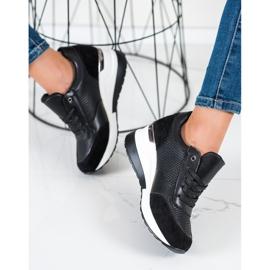 SHELOVET Light Wedge Sneakers black 1