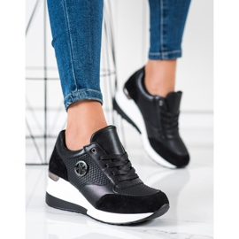 SHELOVET Light Wedge Sneakers black 4