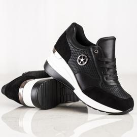 SHELOVET Light Wedge Sneakers black 2