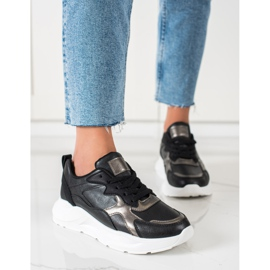 SHELOVET Sneakers On The Platform black 4