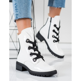 VINCEZA lace-up boots white 4