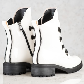 VINCEZA lace-up boots white 2