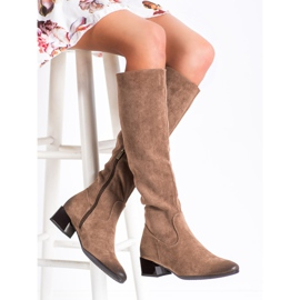 Boots On Low Post VINCEZA brown 2