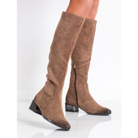 Boots On Low Post VINCEZA brown 1