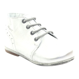 Silver Hugotti tied leather shoes grey 1
