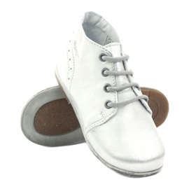 Silver Hugotti tied leather shoes grey 3