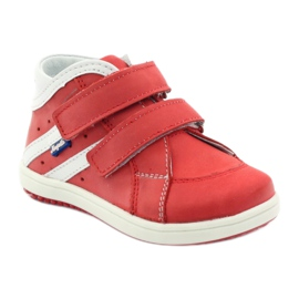 Boots leather Hugotti Velcro red white 1