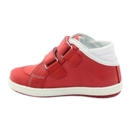 Boots leather Hugotti Velcro red white 2