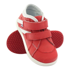 Boots leather Hugotti Velcro red white 3