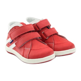 Boots leather Hugotti Velcro red white 4