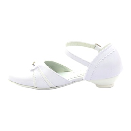 Courtesy ballerinas Communion Miko 702 white 2