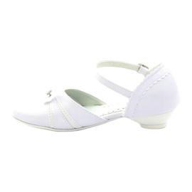 Courtesy ballerinas Communion Miko 702 white 2