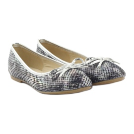 American Club Ballerinas girls' American C061 gray grey 4