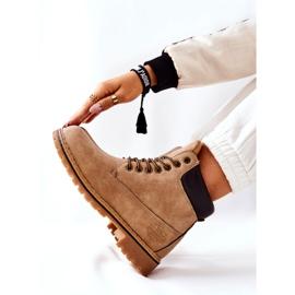 PH1 Women's Beige Crush Warm Boots brown 7