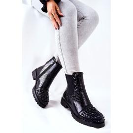 Black Monah Jodhpur Boots With Jets 4