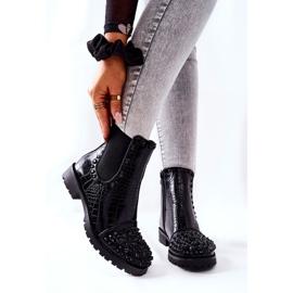 Black Monah Jodhpur Boots With Jets 7