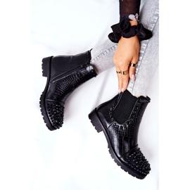 Black Monah Jodhpur Boots With Jets 2