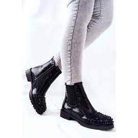 Black Monah Jodhpur Boots With Jets 5