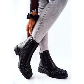 Black Monah Jodhpur Boots With Jets 6
