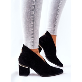 Leather Boots On High Heel Laura Messi Black 2344 4