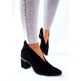 Leather Boots On High Heel Laura Messi Black 2344 5