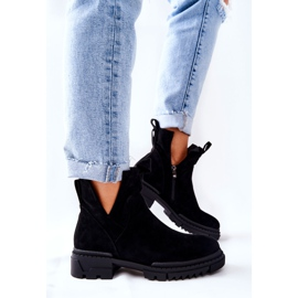 POTOCKI Black Corano Boots With A Cut Out Zip 4