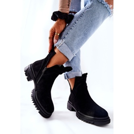 POTOCKI Black Corano Boots With A Cut Out Zip 5