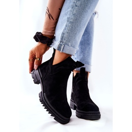 POTOCKI Black Corano Boots With A Cut Out Zip 6