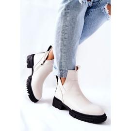POTOCKI White Corano Boots With A Zip Cut 3
