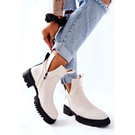 POTOCKI White Corano Boots With A Zip Cut 6